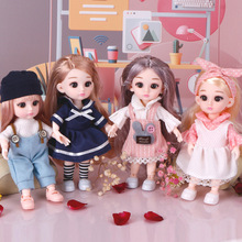 4 Pcs/Set Loli Princess BJD Dolls With Clothes 1/8 16 CM Cute Fashion Dress up Makeup BJD Dolls Toys For Girls Birthday Gifts