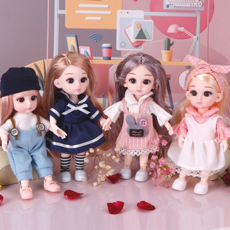 4 unids/set muñecas BJD de princesa Loli con ropa 1/8 16 CM vestido bonito de moda maquillaje muñecas BJD juguetes para niñas regalos de cumpleaños| |   - AliExpress