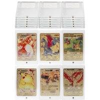 Funda transparente de Pokemon para cartas, funda protectora para tarjetas de juego, álbum de tarjetas de exhibición, mapa de coleccionistas