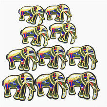 50pcs Elephant Cartoon Animals Iron on Patches for Kids Clothing Stickers Stripes Appliques Clothes Embroidery