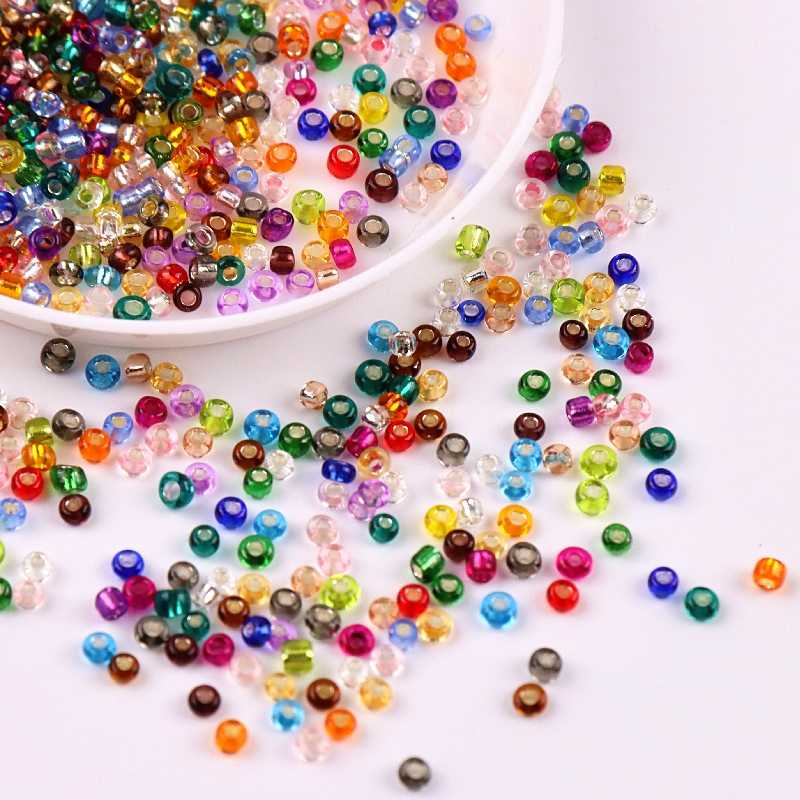 lot of 2500pcs Economical Rocaille 2-4mm Czech Glass Seed loose beads DIY
