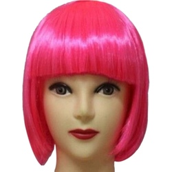 Women Short BOB Hair Wig Straight Bangs Cosplay Party Stage Show 13 Colors Cosplay Hair Item Party Supplies
