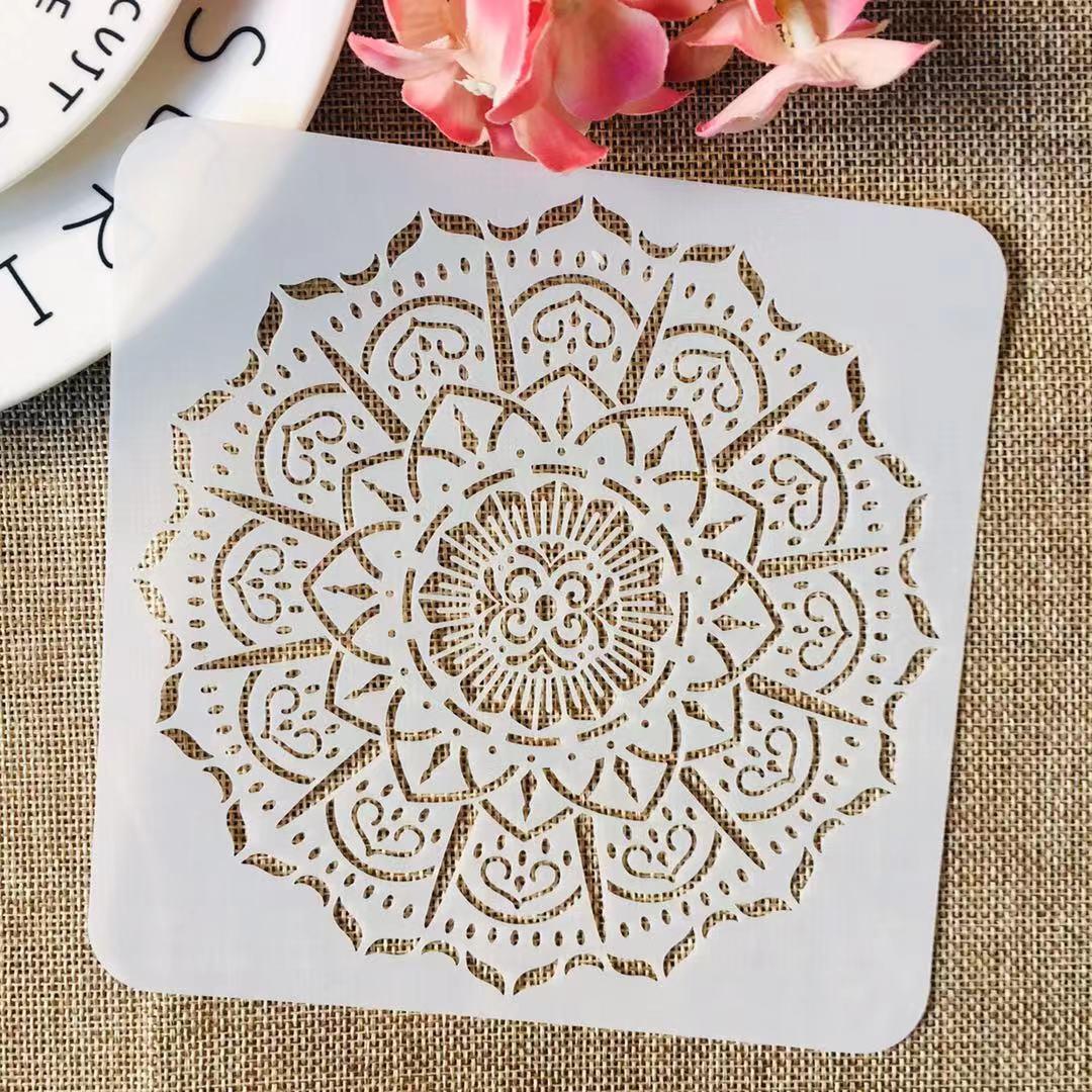 S M L Mandala Round Geometry DIY Layering Stencils Painting Scrapbook Coloring Embossing Album Decorative Template