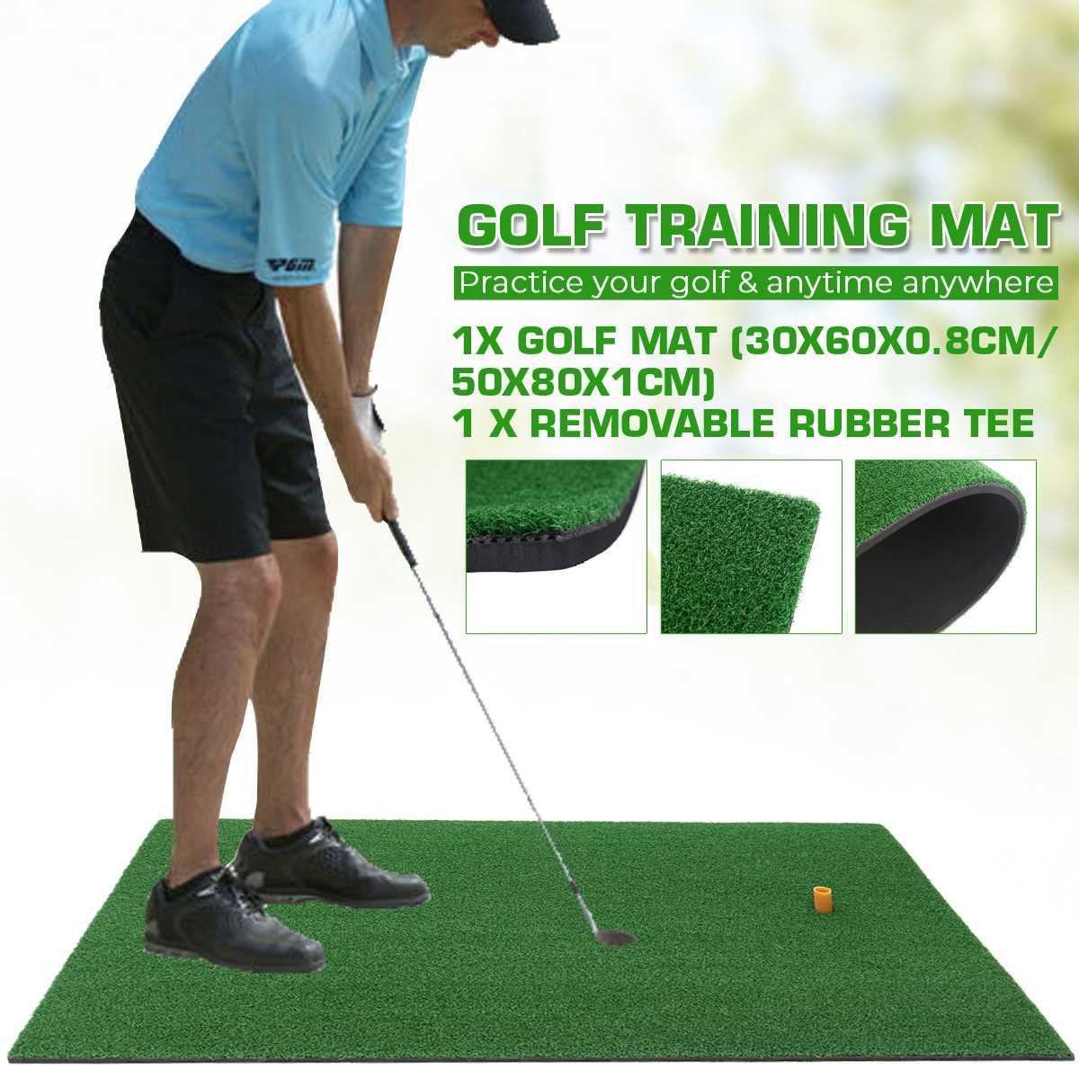 Новый Коврик для игры в гольф, коврик для обучения в помещении, коврик для игры в гольф, задний двор с резиновой тройкой, мини-коврик для голь...
