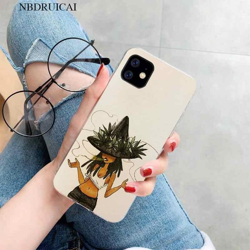 PENGHUWAN soyutlama sanat yüksek ot tumblr kız telefon kılıfı iPhone 11 pro XS MAX 8 7 6 6S artı X 5S SE XR kapak