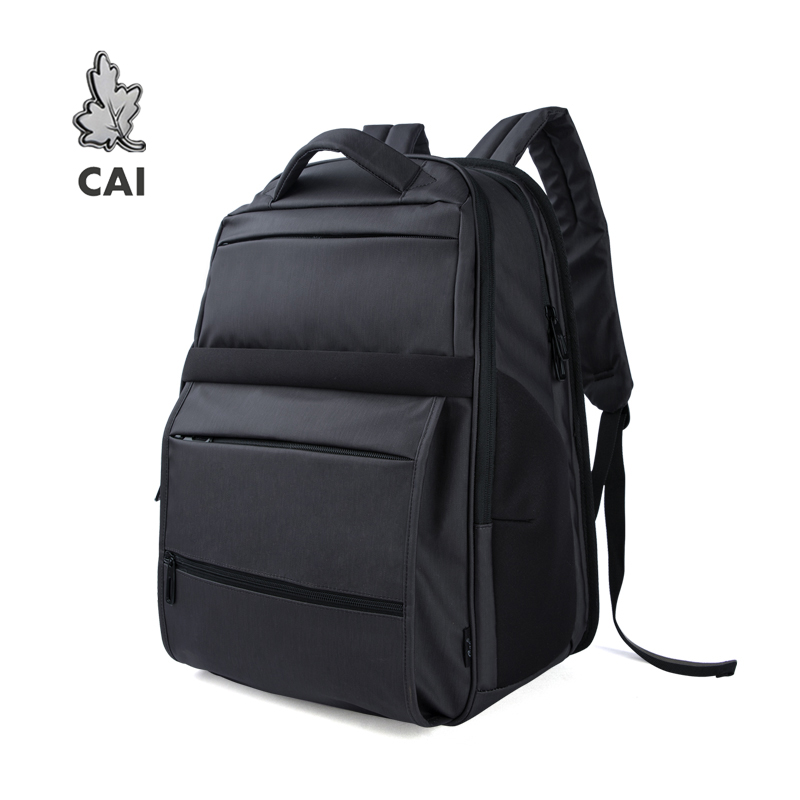 CAI Luxury Quality Men Fashion Backpack Bag High Capacity Travel Waterproof 15.6