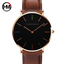 Simple Men Watch Leather Strap Men Quartz Wristwatch Japan Movement 2019 Luxury Brand Watch Men Waterproof Relogio Masculine цена в Москве и Питере