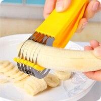 일본어 가제트 주방 나이프 과일과 야채 도구 바나나를 잘라 스테인레스 스틸 슬라이서 쵸퍼