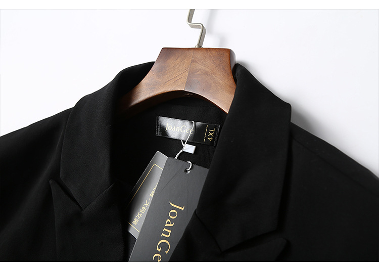 Plus size M-5XL high-end women's blazer 2020 Casual Double Breasted Women's Jacket Temperament office mid-length small suit