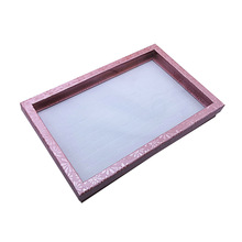 1pcs Portable Fashion Pink 100 Slot Ring Display Stand Metal Earrings Bijoux Storage Box Storage Box Jewelry Display Cabinet