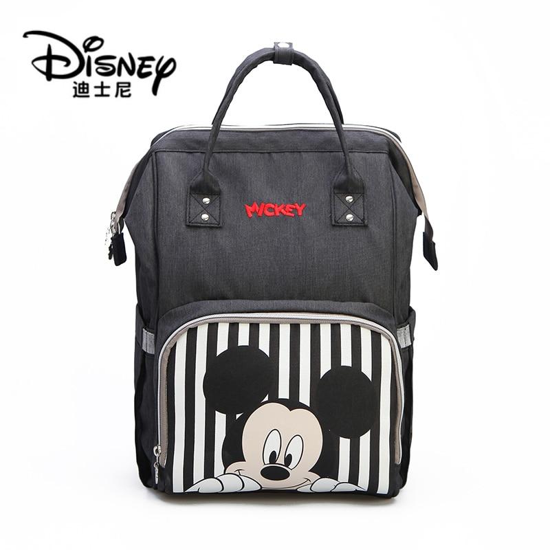 Disney Mickey Minnie USB Mummy Travel Waterproof Nappy Changing Diaper Bag Backpack Bolsa Maternidade With Baby Bottle Warmer
