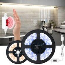 Датчик движение светодиод полоса свет рука развертка датчик и затемнение USB DC 5V свет полоса для спальни кухни ванной лампы освещения