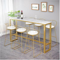table Home bar furniture Nordic high table Modern simplicity marble Bar table net red milk tea shop against the wall Long tables