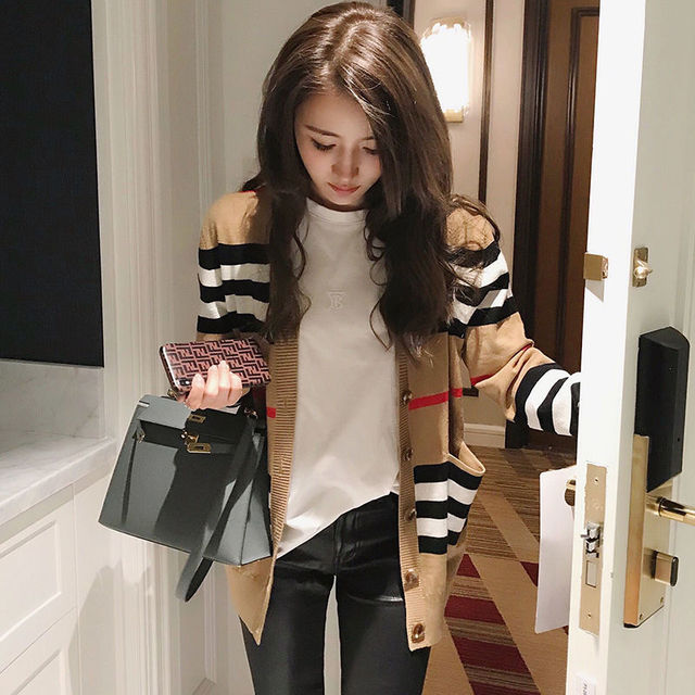 Knitted cardigan coat women's spring 2021 new loose and versatile sweater women's long sleeve sweater thin
