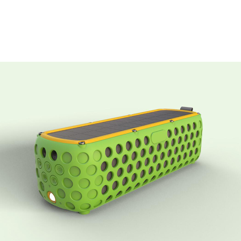 Altavoz Solar portátil Bluetooth con luz LED y micrófono incorporado Compatible con iPhone Samsung y dispositivos inteligentes IPX5 a prueba de agua - 3