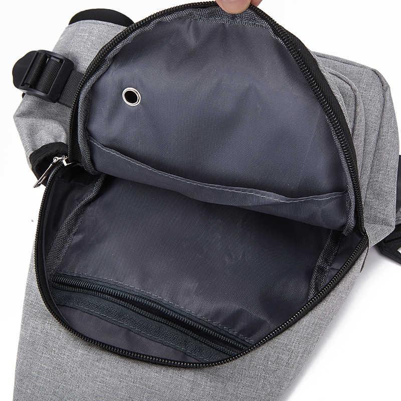 Litthing Multifunktions Crossbody-tasche Männer Anti-theft Schulter Messenger Taschen Männlichen Wasserdichte Kurze Reise Brust Tasche Pack