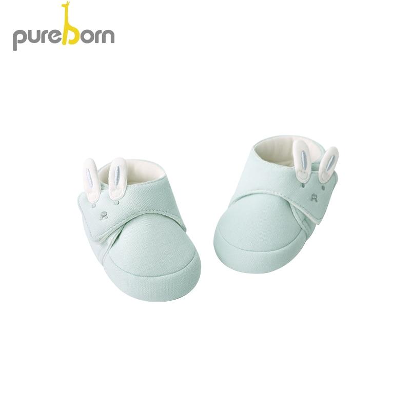 Pureborn Toddler First Walkers Newborn Boys Girls Cartoon Anti-slip Prewalker Baby Slippers Knit Crib Shoes Kids Sneakers