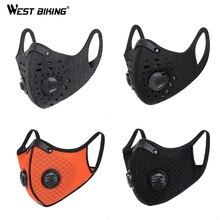WEST BIKING, велосипедная маска для лица, Спортивная тренировочная маска PM2.5, анти загрязняющая маска для бега, фильтр с активированным углем, смываемая маска