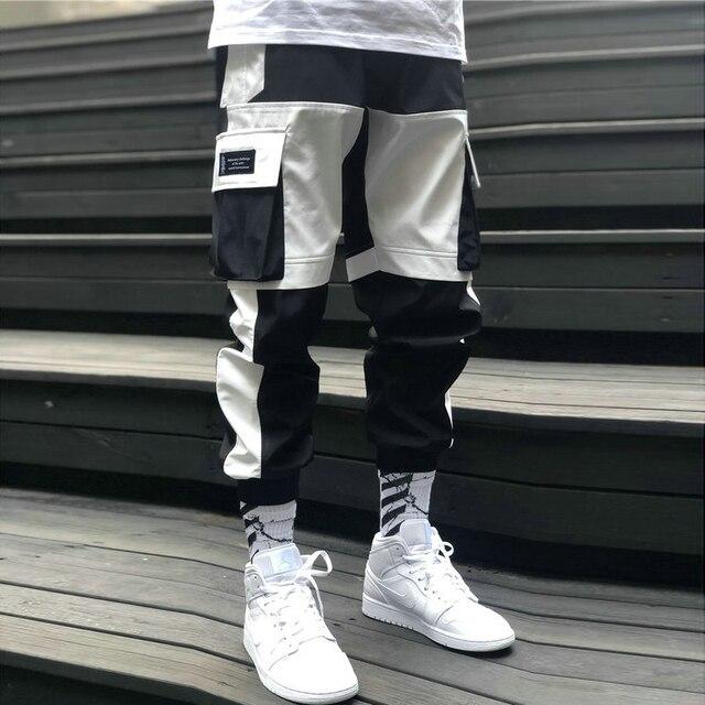 Streetwear Men's Multi Pockets Cargo Harem Pants Hip Hop Casual Male Track Pants Joggers Trousers Fashion Harajuku Men Pants 5