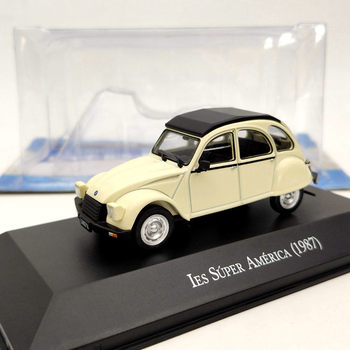 IXO 1:43 For Citroen 3CV IES Super America 1987 beige Diecast Models Limited Edition Collection Auto Car Gift image