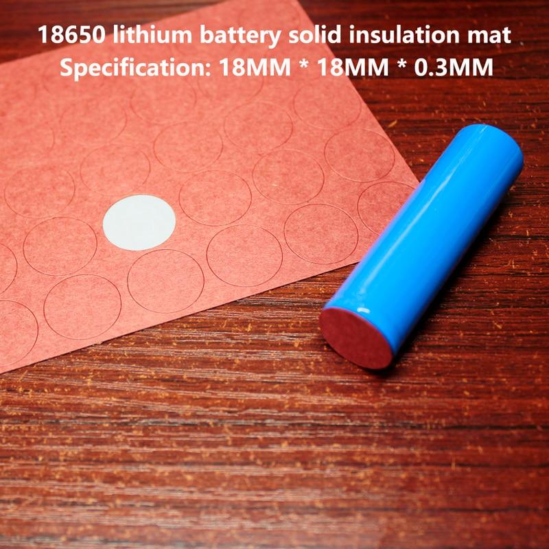 Купить с кэшбэком 100pcs/lot 14500 Lithium Battery Negative Solid Insulating Mat Surface Cushion Meson 5 Battery, Highland Barley Paper