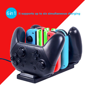 Controller charge Dock For Nintend Switch and Pro Controller LED Charger Gamepad Charge Stand For Joy-con&Pro NS Switch 6 in1(China)
