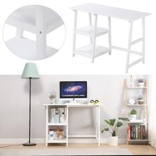 2021 New White Computer Table With Shelf Home Office Desktop Game E-sports Table Nordic Style Cafe Desk Internet Gaming Desk HWC