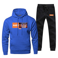 Compleet Man Trainingspak Naruto Pijn Print Rinnegan Hoodies Broek Japan Anime Harajuku mannen Jogging Casual Fleece Heren Sportkleding(China)