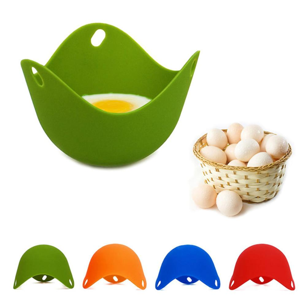 4Pcs/lot Silicone Egg Poacher Poaching Pods Pan Mould Kitchen Cooking Tool Accessories Egg Mold Boiler Cup Gadget Drop Ship