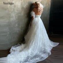 Verngo новое платье принцессы ТРАПЕЦИЕВИДНОЕ кружевное свадебное