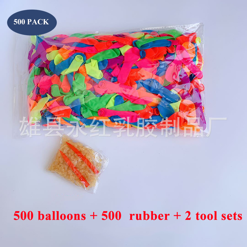 Summer Beach Party Outdoor 500Pcs Water Balloons Supplementary Package Toys Magic Filling Water Balloon Bombs Toys For Kid Adult