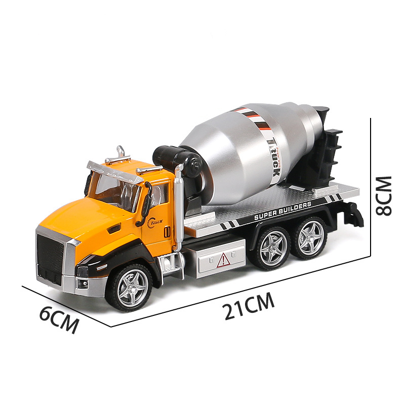 Alloy Engineering Truck Cement Mixer Truck Model Concrete Mixer Construction Car Kids Toy Gift