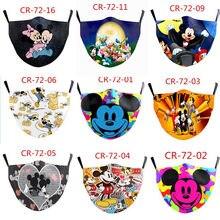 С Микки Маусом Минни Маус хлопковая маска для взрослых и детей аниме смываемая маска с фильтром теплый повторное использование для девушек ...