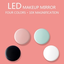Led Makeup Mirror 10x HD Magnifier Cosmetic With Light Abs Material Portable Foldable New