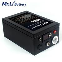 12V 40Ah de iones de litio de Pack de batería recargable con interfaz USB de luz LED a prueba de agua para la fuente de alimentación al aire libre pesca Finder