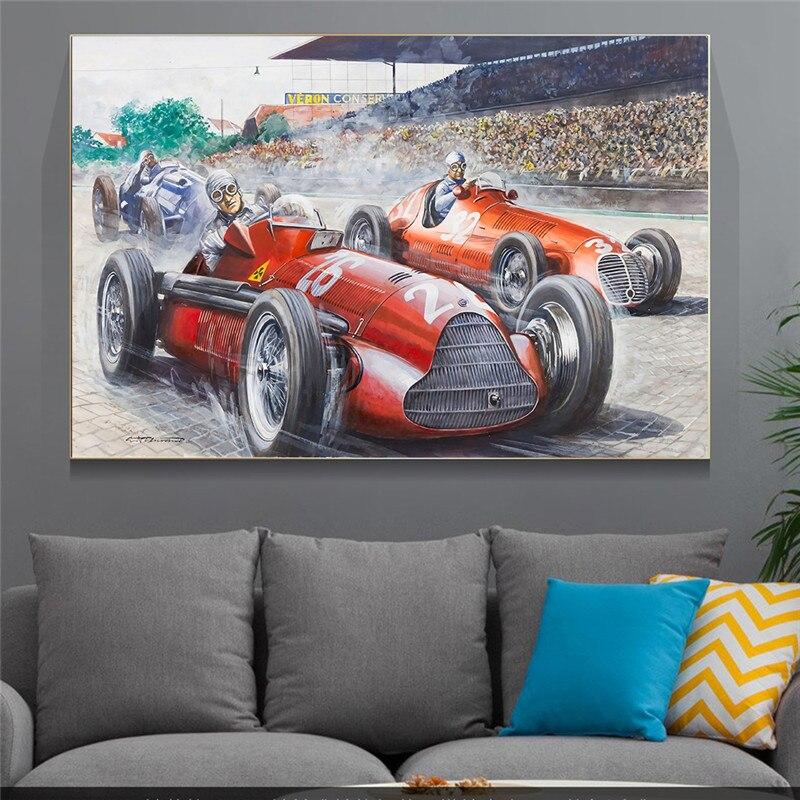 Graffiti F1 Racer Racing stampa artistica tela pittura pittura decorativa decorazione soggiorno arte astratta immagine
