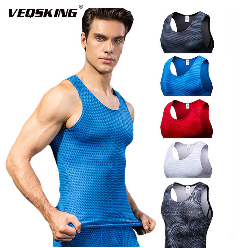 Men's Quick Dry Running T-shirt,Breathable Workout Vast for Fitness Climbing,Muti-color Hight Elastic Sports Wear for Men Gym