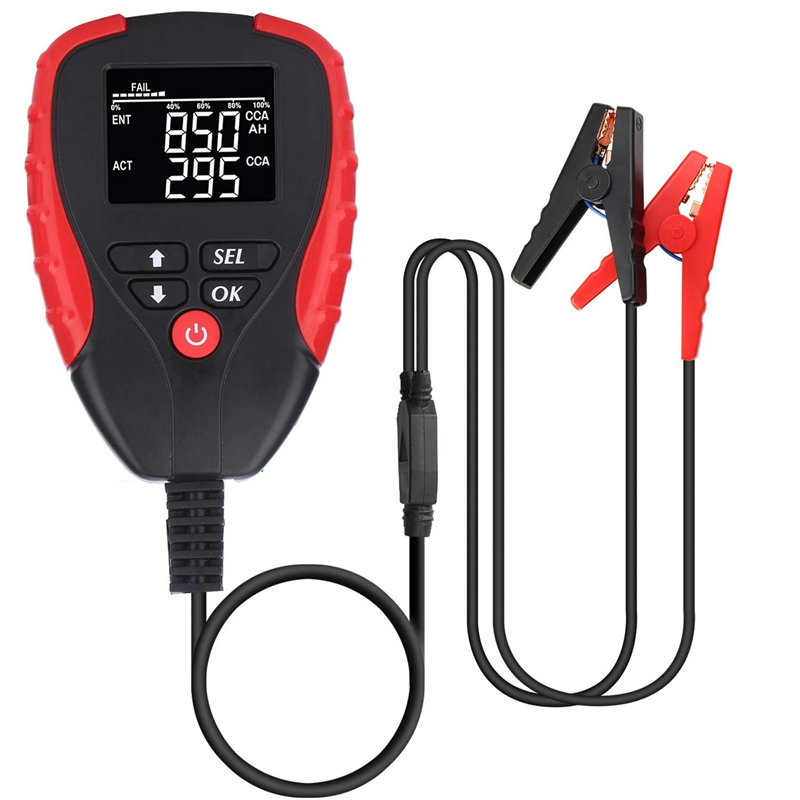 Digital 12V Car Battery Tester Pro With Ah Mode Automotive Battery Load Tester And Analyzer Of Battery Life Percentage,Voltage,