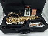 Brand New Music fancier Club saxophon MFCAS WO37 Alto Saxophone Nickel Plated Gold Key