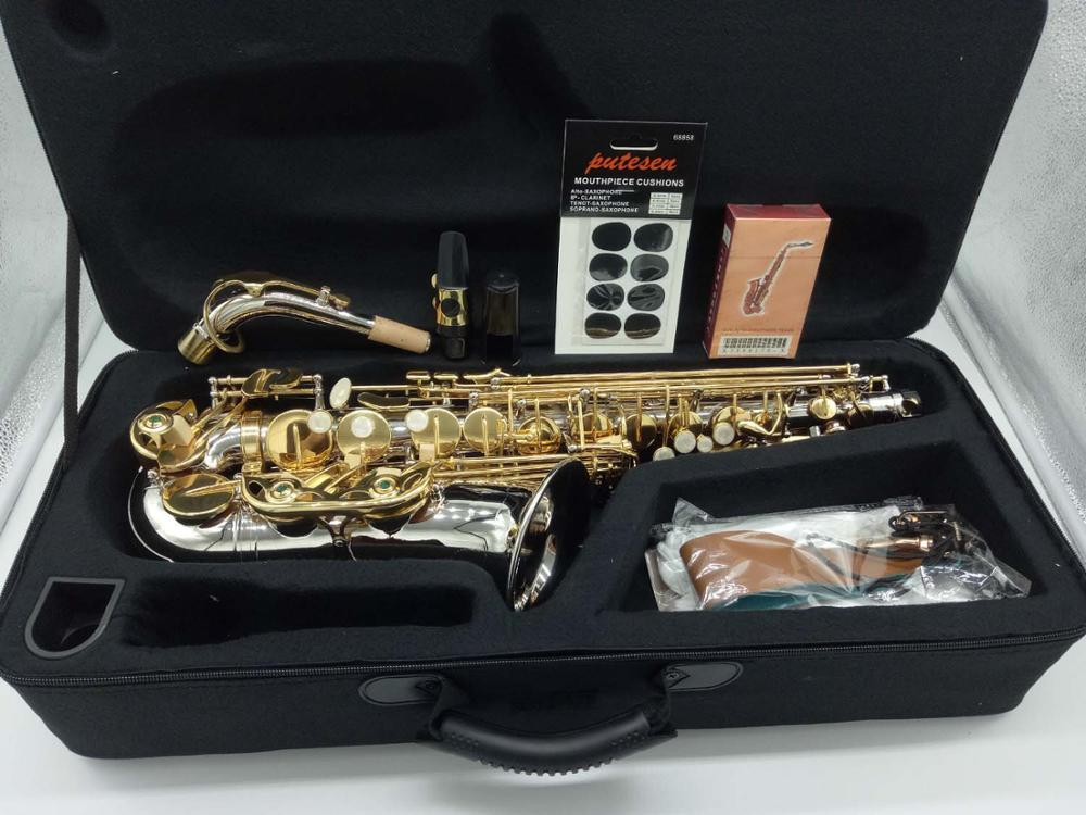 Brand New Music fancier Club saxophon MFCAS-WO37 Alto Saxophone Nickel Plated Gold Key image