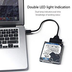 """Image 4 - USB 3.0 SATA kablosu SATA USB adaptörü için 2.5 """"SSD HDD harici sabit disk harici sürücü kutusu"""