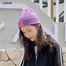 USPOP 2019 New skullies cap women men beanies hat womens winter casual couple  hats