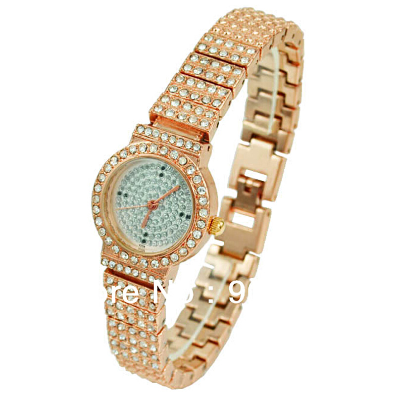 King Girl Fashion Brand Watches Womens Crystal Women Luxury Rose Gold Ladies Montre Femme