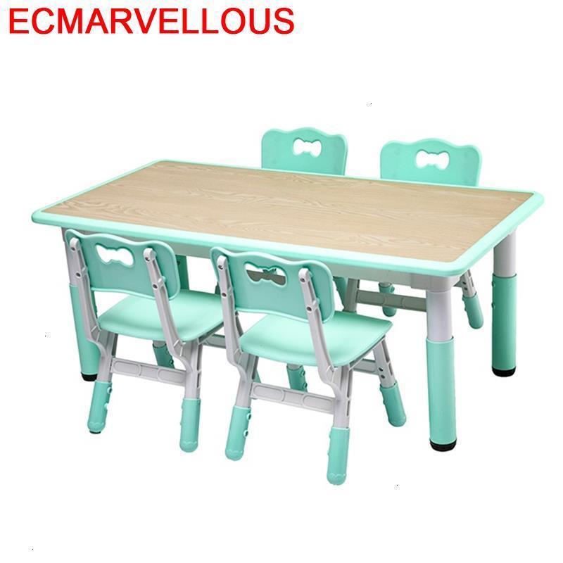 Dzieci Y Silla Desk For Kids De Estudio Mesinha Scrivania Bambini Kindergarten Enfant Study Kinder Mesa Infantil Children Table