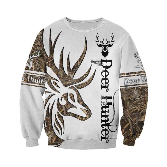 Deer Hunter Tatoo 3D - Sweatshirt, Hoodie, Pullover 6