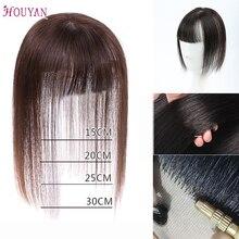 HOUYAN высококачественные натуральные человеческие волосы разных размеров невидимые бесшовные прямые волосы Топ зажим для волос для взрослых мужчин/женщин