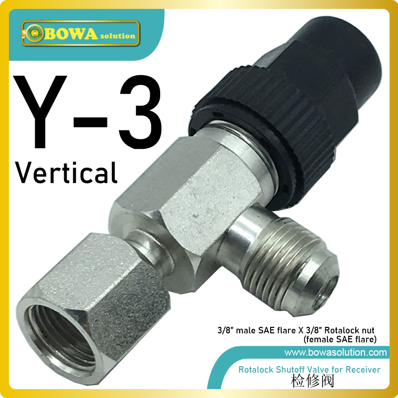 """3/8"""" SAE rotalock angle valve is wonderful design for oil oultlet of helical oil separator in refrigeration & airconditioners"""