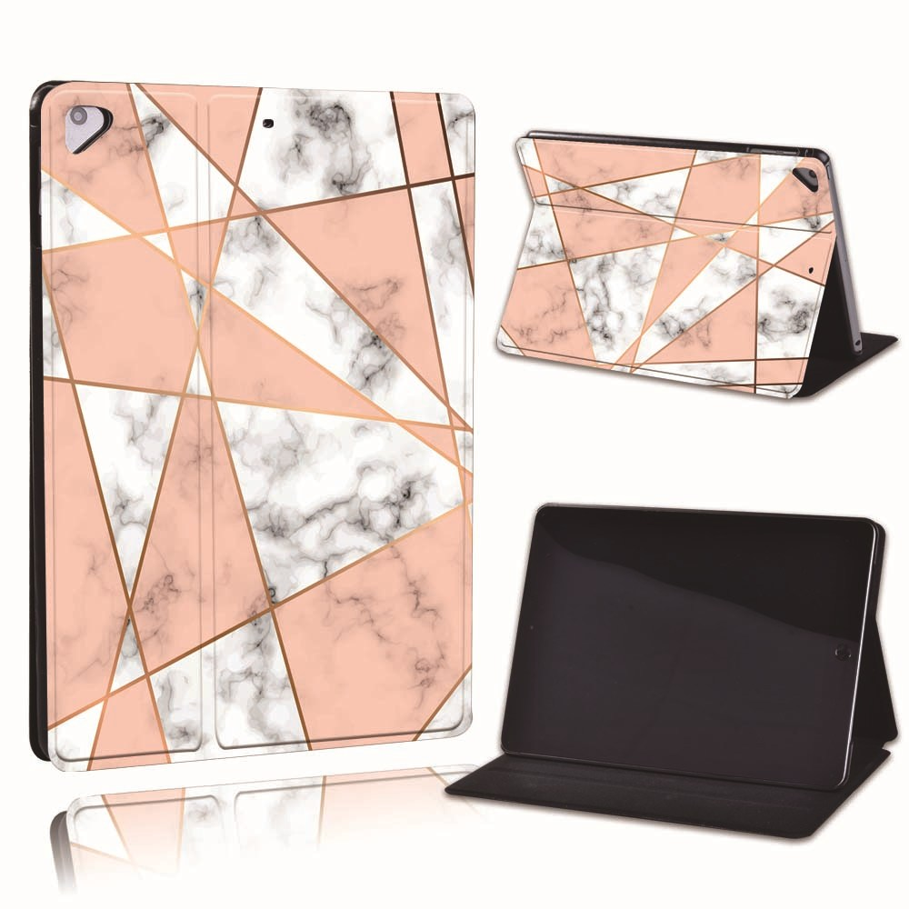 5.pink triangle Black For Apple iPad 8 10 2 2020 8th 8 Generation A2428 A2429 Slim Printed Geometry PU