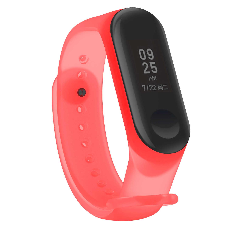 Bunte Transparent Armband für Xiao mi mi Band 4 Sport Strap Uhr Silikon Handgelenk Gurt für Austauschbare Armband Zubehör