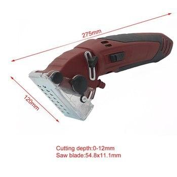 Mini sierra eléctrica Circular DIY, sierra eléctrica multifuncional, Kits de herramientas eléctricas, herramienta rotativa, hojas de sierra Circular para carpintería